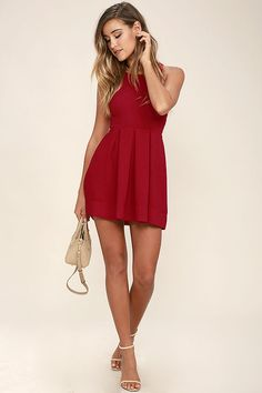 5cc7ebb576 Test Drive Wine Red Dress