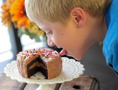 Chocolate Peanut Butter Cake for 1 -Recipe for single serve cake:)