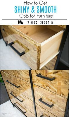 Learn how to turn OSB into perfectly smooth and shiny drawer fronts using a coat of epoxy resin. Easy high gloss finish video tutorial.