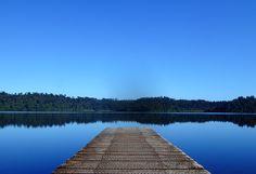 NZ Places: Lake Ianthe by ~Treeshaped on deviantART #lake #dock