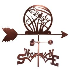 Add this stylish weathervane to your home for a personalized touch featuring a Dragonfly design. The weathervane is constructed from durable, weatherproof steel with a copper finish for a fun accent a