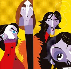Beatles draw and arts: Os Beatles por Pablo Lobato
