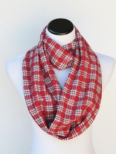Hey, I found this really awesome Etsy listing at https://www.etsy.com/listing/256816079/plaid-infinity-scarf-christmas-scarf