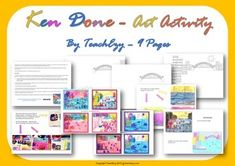 Free: A simple art activity to learn about Ken Done. Group Art Projects, Animal Art Projects, Easy Art Projects, Art Room Doors, Pop Art Party, Christmas Art For Kids, Art Deco Font, Art Deco Paintings, Abstract Line Art