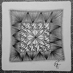 Zentangle - Patterns: Facets, 4 Corners, Esses