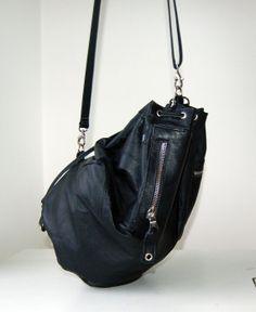 Chloe black leather duffel shoulder bag, $270