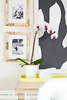 Add wood on top of an existing frame to create a driftwood look!