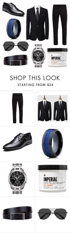 """""""Wedding"""" by ashcmeg ❤ liked on Polyvore featuring Prada, Oliveti, Tissot, Imperial Barber Products, HUGO, EyeBuyDirect.com, men's fashion and menswear"""