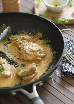 5 Spice Cream Cheese Chicken | www.runningtothekitchen.com