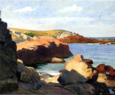 Edward Hopper - Sea at Ogunquit, 1914 - Whitney Museum of American Art. American Realism, American Artists, National Gallery Of Art, Seascape Paintings, Landscape Paintings, Acrylic Paintings, Watercolor Paintings, Edward Hopper Paintings, Whitney Museum