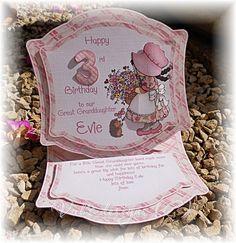 little girl's card