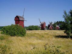 Wooden Windmills of Öland, Sweden