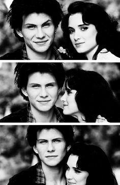 christian slater & winona ryder photographed for heathers (1988)
