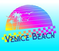 Image result for 80's inspired  logos venice beach