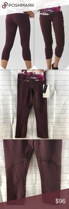 NWT BRDR/PGWB LULULEMON WUNDER UNDER CROP SE - - 2 Brand: Lululemon Athletica Wunder under crop Hi - Rise Se shine on special edition    Condition: New with tag || Size 2 || BRDR / PGWB Bordeaux Drama maroon pigment wind berry    📌NO  TRADES  🛑NO LOWBALL OFFERS  ⛔️NO RUDE COMMENTS  🚷NO MODELING  ☀️Please don't discuss prices in the comment box. Make a reasonable offer and I'll either counter, accept or decline.   I will try to respond to all inquiries in a timely manner. Please check out…