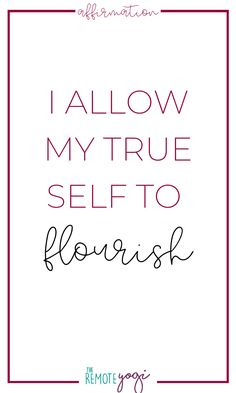I allow my true self to flourish. Get 50 more affirmations for self love and self acceptance by clicking on the pin. Spiritual Coach, Self Love Affirmations, Negative Thinking, Self Acceptance, Self Love Quotes, Best Self, Flourish, Mantra, Law Of Attraction