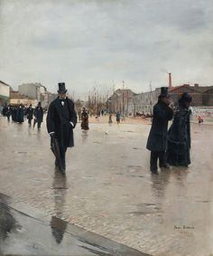 Jean Béraud, Leaving Montmartre Cemetery, oil on canvas, 1876