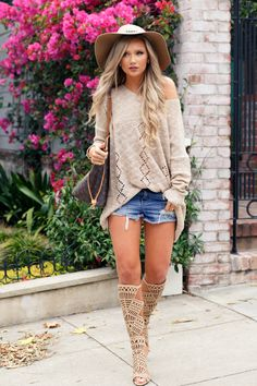 Fall Knits Sweater: HER Boutique | Hat: HER Boutique Fashion Look by Stephanie Danielle
