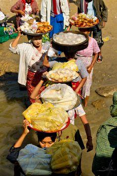Food Procession - Burma