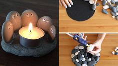 13 Creative DIY Home Decor Ideas with Pebbles and River Rocks