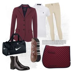 """""""Horseback riding Outfit"""" by lijifhorse on Polyvore featuring Mode, Ariat, Polo Ralph Lauren, Cavalleria Toscana, Tod's, NIKE und plus size clothing"""