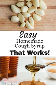 Kick a chronic cough quickly and without side effects with this easy DIY garlic and honey cough syrup! This all natural remedy is kid friendly! Coughing At Night Remedies, Cough Remedies For Kids, Homemade Cough Remedies, Homemade Cough Syrup, Home Remedy For Cough, Natural Cough Remedies, Cold Home Remedies, Bronchitis Remedies, Cough Syrup For Kids