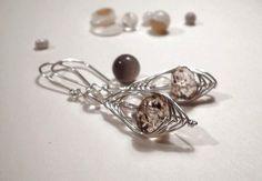 Ohrhänger - Rauchquarz und Bergkristall Ohrhänger - ein Designerstück von LivewirE bei DaWanda