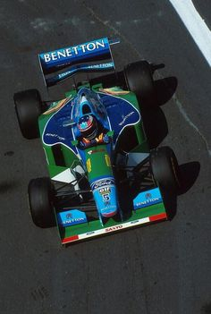 Michael #Schumacher piloting his Benetton-Ford B194 (1994). #KeepFightingSchumi