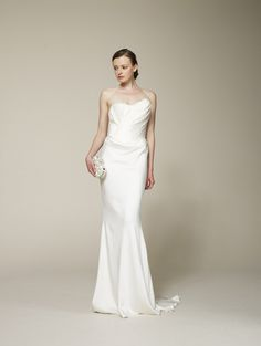 Sultry Silk Wedding Dress  Marchesa 2013 Bridal Collection