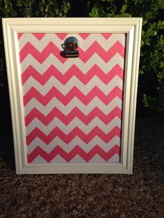 Hip Hanging Display -Pink Chevron - Awesome Way to Display your Child's Art or Student of the Week in a Classroom