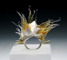 Heather Thompson - Coexistence   Sterling Silver, Glass, Fine Silver