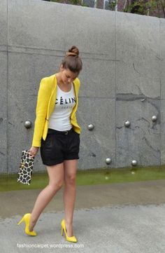 New heels yellow casual Ideas