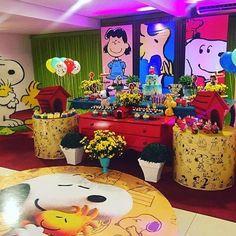 Festa Snoopy. Pic via @plusbuffet #encontrandoideias #blogencontrandoideias #fabiolateles