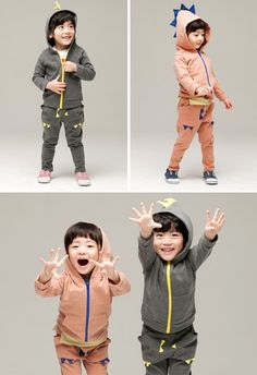 Monster Active Hoodies Set for boys and girls 2-6. Cool kids fashion, play ready style.