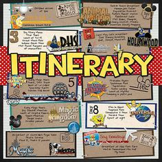 April 2010 Itinerary - MouseScrappers - Disney Scrapbooking Gallery
