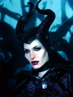 Maleficent Doll Repaint
