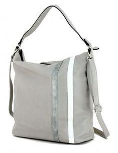Beuteltasche Lichtblau Galini hellgrau light grey kombi - Bags & more Hobo Bag, Rebecca Minkoff, Fashion, Grey And White, Artificial Leather, Silver, Blue, Moda, Fashion Styles