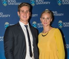 Australian Swim Team's Madeline Groves and Alex Graham receive prestigious Georgina Hope Rinehart Swimming Excellence Scholarship to study at Bond University on the Gold Coast.