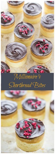 Mini morsels of that classic confection - millionaire's shortbread, topped with freeze dried rapsberries. Mini Desserts, Dessert Recipes, Gourmet Desserts, Diabetic Desserts, Pudding Desserts, Apple Desserts, Frozen Desserts, Plated Desserts, Dessert Party