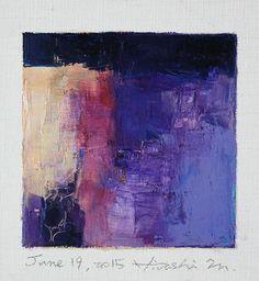 June 19 2015 Original Abstract Oil Painting by hiroshimatsumoto