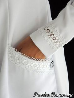 New Dress White Lace Fashion Details Ideas Kurti Sleeves Design, Sleeves Designs For Dresses, Sleeve Designs, Sewing Clothes, Diy Clothes, Clothes For Women, Kurta Designs, Blouse Designs, Fashion Details