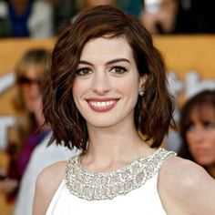 Love the hair, Anne Hathaway