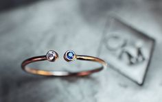 ROSE GOLD Birthstone Ring - Dual Birthstone Ring  - His and Hers Birthstone Ring on Etsy, $230.00
