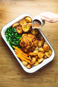 Lowly | Vegan Sunday Roast With All The Trimmings - A Glorious Feast! Cauliflower Dishes, Roasted Cauliflower, Rose Harissa, Aquafaba, Vegetable Puree, Sunday Roast, Smoked Paprika, Casserole Dishes, Recipes