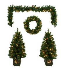 Shop Holiday Living Artificial Garland, Wreath & Tree Set at Lowe's Canada. Find our selection of christmas yard decor at the lowest price guaranteed with price match + 10% off.