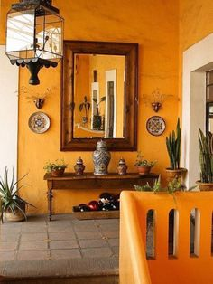 Mexican Style Home Decor Color Of The Month Orange Colonial Decor Hacienda Style Mexican Style Home Decorating Ideas Spanish Style Interiors, Spanish Style Decor, Spanish Style Homes, Spanish House, Spanish Revival, Spanish Colonial Decor, Spanish Colors, Spanish Style Bathrooms, Spanish Kitchen