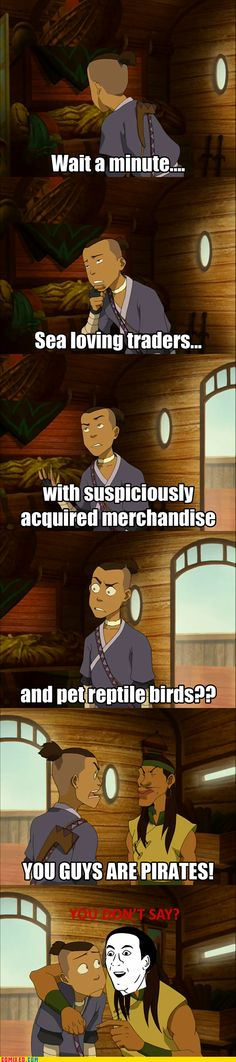 Sokka is quite the detective.