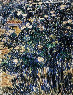Vincent van Gogh: Flowering Bushes in the Asylum Garden (1889)