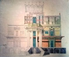 The Little Chinese Palace architecture watercolour _BM