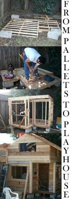 Play house pallet